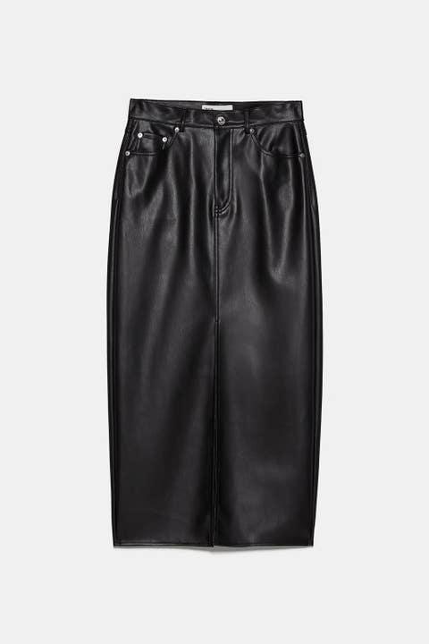 Clothing, Black, Leather, Pencil skirt, Satin, Shorts, Fashion, Textile, Waist, Trousers,
