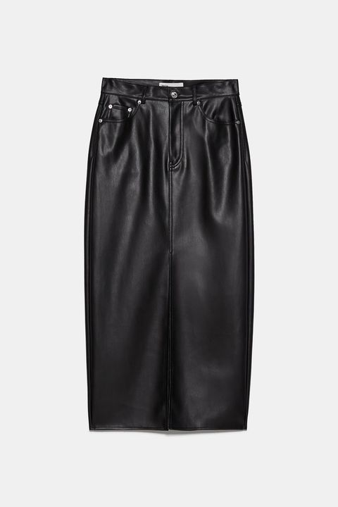 Clothing, Black, Leather, Pencil skirt, Satin, Shorts, Fashion, Textile, Waist, Trousers,