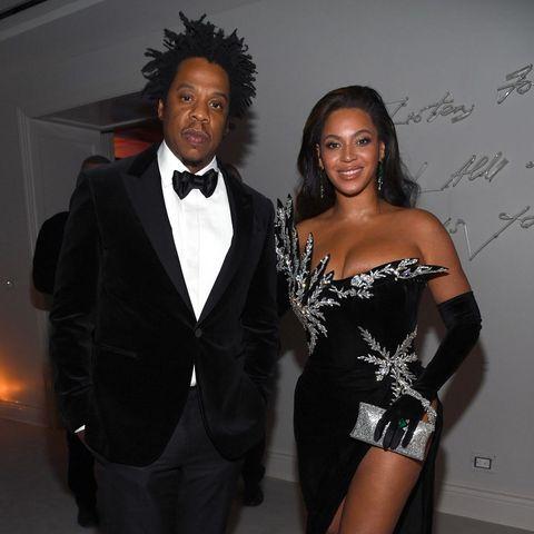 Beyoncé en Jay-Z tijdens de 50ste verjaardag van P. Diddy