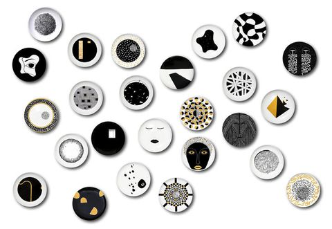 Button, Fashion accessory, Design, Font, Circle, Black-and-white, Metal, Embellishment,