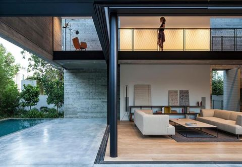 Property, Interior design, Floor, Swimming pool, Real estate, Ceiling, Couch, Wall, Flooring, Fixture,