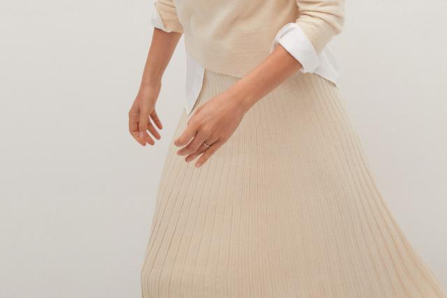 mango falda plisada
