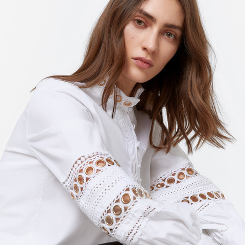 Uterqüe camisa blanca