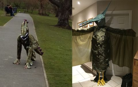 Full body dinosaur costume