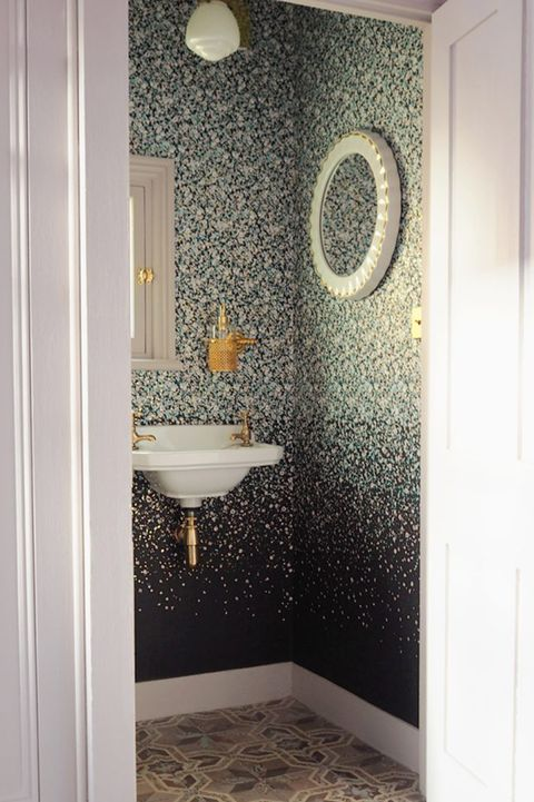 modern bathroom wallpaper