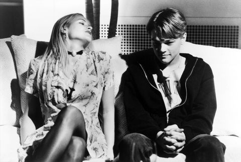 THE BASKETBALL DIARIES, from left: Brittany Daniel, Leonardo DiCaprio, 1995. ©New Line/courtesy Ever