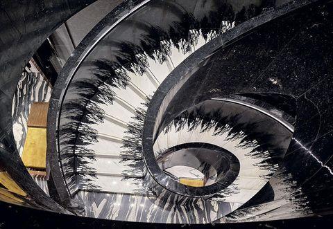 Eye, Stairs, Organ, Architecture, Eyelash, Spiral, Monochrome, Iris, Photography, Stock photography,
