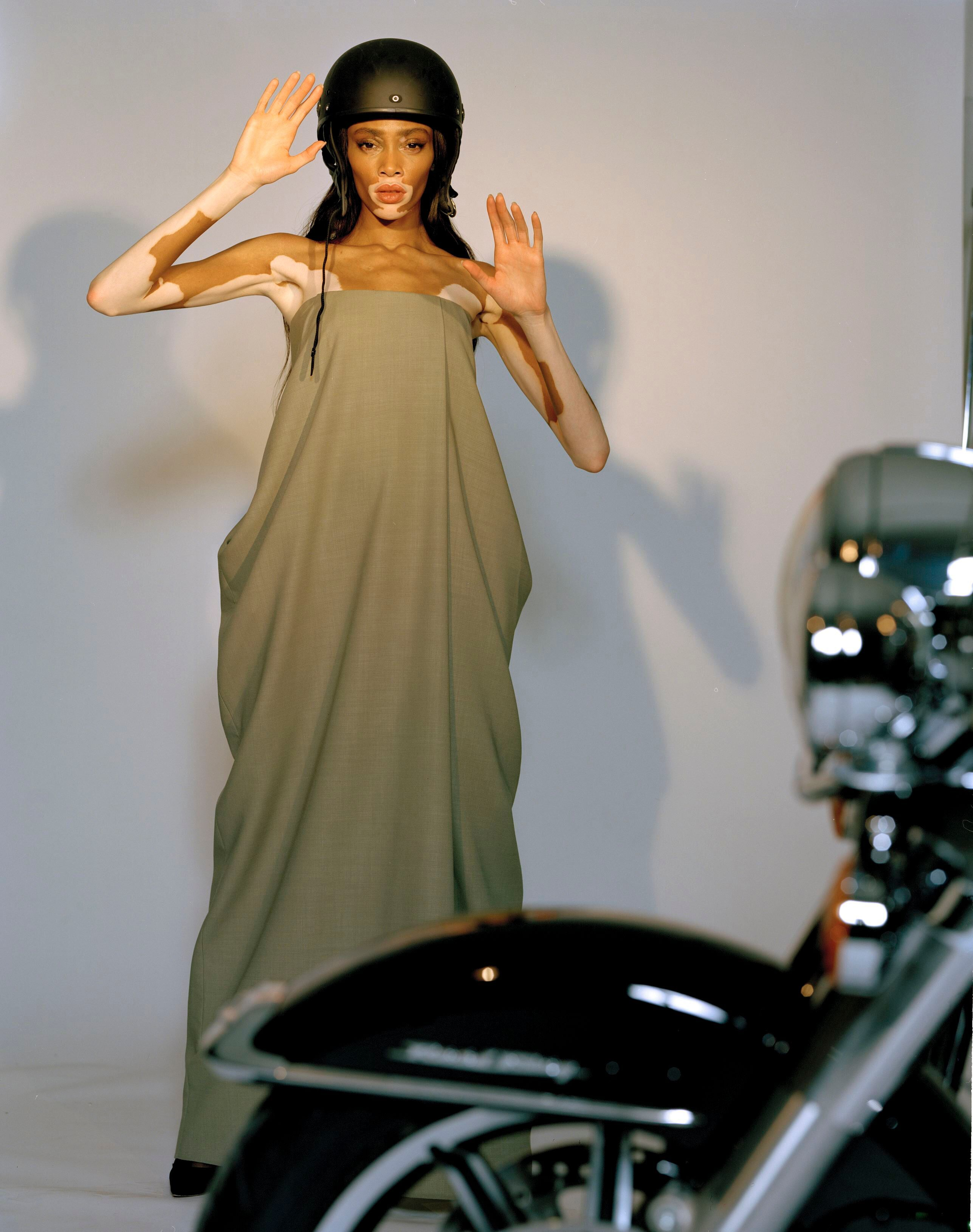 Vroom Vroom, Winnie Harlow Revs Out of New York Fashion Week