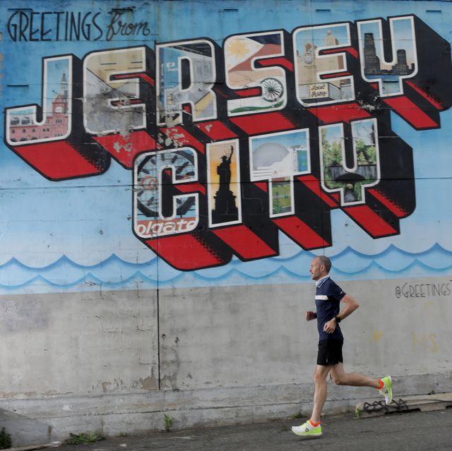 jeff dengate runs on 12th st in jersey city