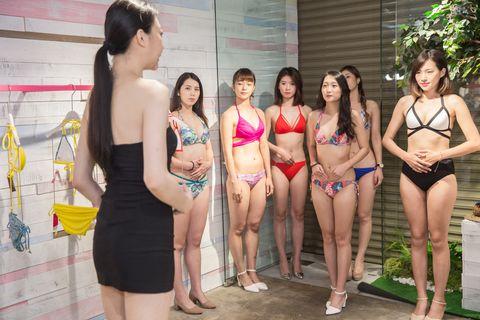 Clothing, Bikini, Swimwear, Fun, Japanese idol, Gravure idol, Lingerie, Swimming pool, Recreation, Leisure,