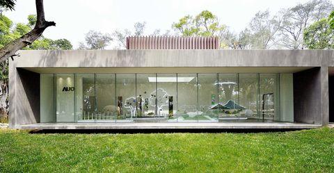 Property, House, Architecture, Building, Home, Facade, Pavilion, Grass, Estate, Interior design,