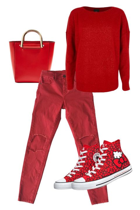 Red, Clothing, Footwear, Pajamas, Shoe, Jeans, Trousers, Sleeve, Coquelicot, Magenta,