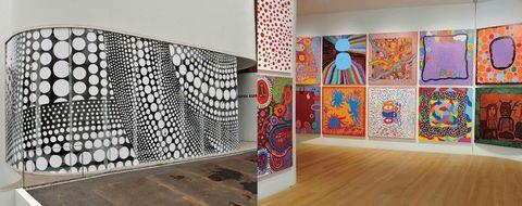 Wall, Modern art, Room, Art, Interior design, Visual arts, Design, Pattern, Textile, Floor,