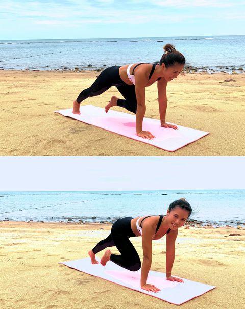 Physical fitness, Shoulder, Arm, Joint, Leg, Yoga mat, Balance, Stretching, Individual sports, Yoga,