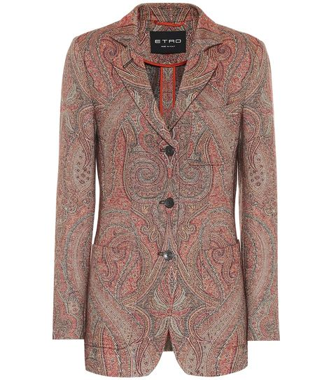 Clothing, Outerwear, Blazer, Jacket, Orange, Sleeve, Pink, Top, Design, Pattern,