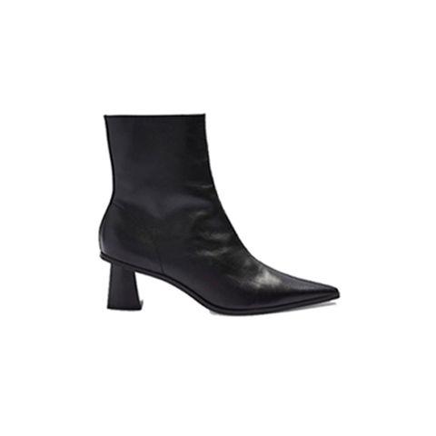 Footwear, Boot, Shoe, Leather, High heels, Knee-high boot,