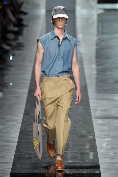 Brown, Dress shirt, Collar, Sleeve, Shirt, Standing, Cap, Street fashion, Fashion, Pocket,