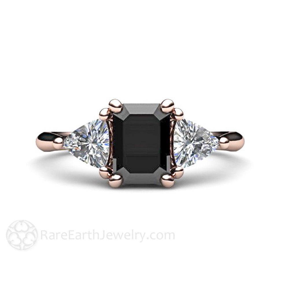 Cute black diamond engagement rings your inner goth will love