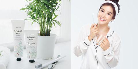 White, Skin, Product, Beauty, Nose, Plant, Flowerpot, Neck, Houseplant, Fashion accessory,