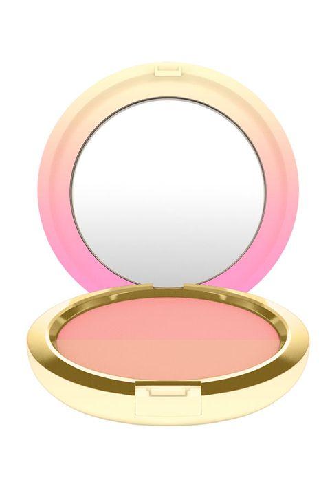 Pink, Cosmetics, Face powder, Beauty, Peach, Cheek, Eye, Material property, Makeup mirror, Magenta,