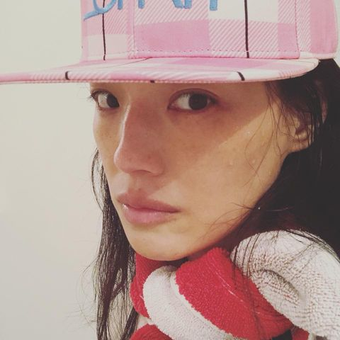 Face, Clothing, Lip, Chin, Hat, Nose, Pink, Cheek, Headgear, Cap,