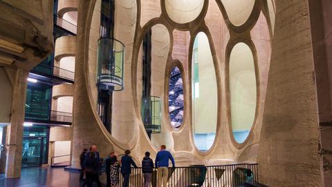 Architecture, Building, Lobby, Interior design, Column, Tourist attraction, Ceiling, Arch, Reflection, Tourism,