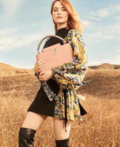 路易威登, LV 包包, LV Capucines包,艾瑪史東,時尚廣告,LOUIS VUITTON,Emma Stone