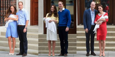18514c254b40 How Kate Middleton s First Appearance With Royal Baby No. 3 Compares to  George and Charlotte s Debuts