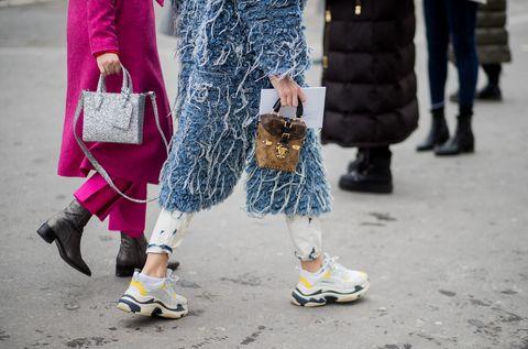 Street fashion, White, Pink, People, Fashion, Footwear, Snapshot, Yellow, Shoe, Leg,