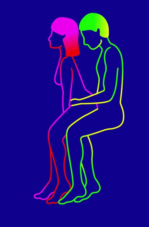 Violet, Purple, Human, Organism, Line art, Magenta, Silhouette, Illustration,