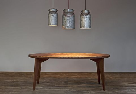 Wood, Table, Furniture, Wall, Wood stain, Light fixture, Hardwood, Tan, Material property, Still life photography,