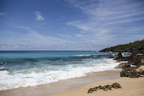 Body of water, Beach, Sea, Sky, Ocean, Coast, Shore, Water, Wave, Coastal and oceanic landforms,