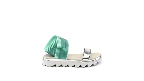 Product, Footwear, Architecture, Turquoise, Shoe,
