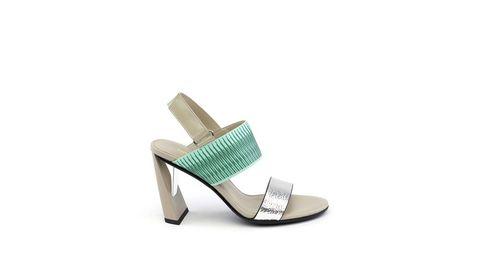 Footwear, Sandal, Slingback, High heels, Shoe, Beige,