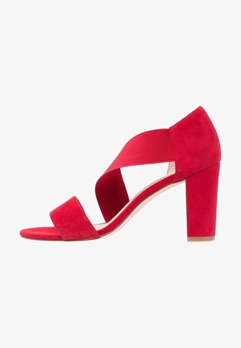 Footwear, Red, High heels, Shoe, Sandal, Mary jane, Basic pump, Magenta, Court shoe, Leather,