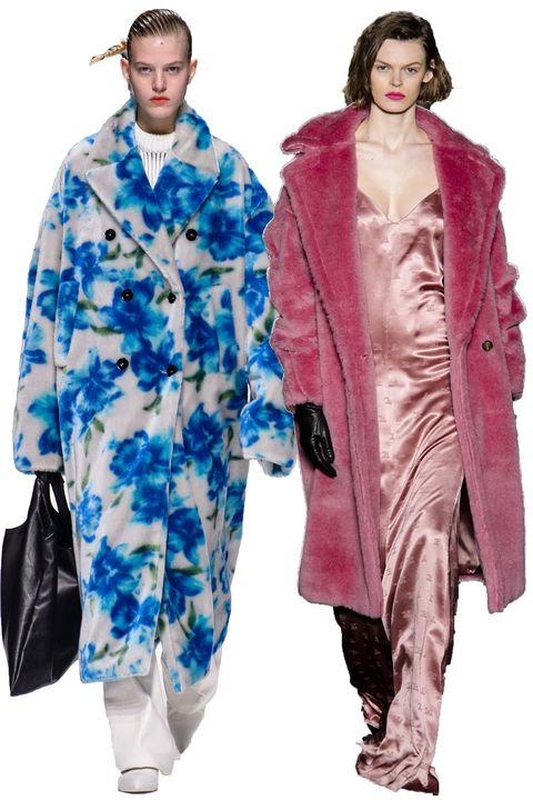 Clothing, Fashion, Fashion model, Outerwear, Fashion show, Fur, Overcoat, Fashion design, Coat, Duster,