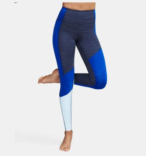 Clothing, Tights, Blue, Cobalt blue, Leggings, Electric blue, Active pants, Waist, Sportswear, Trousers,