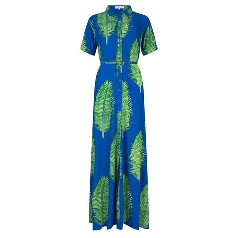 Clothing, Day dress, Dress, Blue, Green, Turquoise, Cobalt blue, Sleeve, Electric blue, Robe,