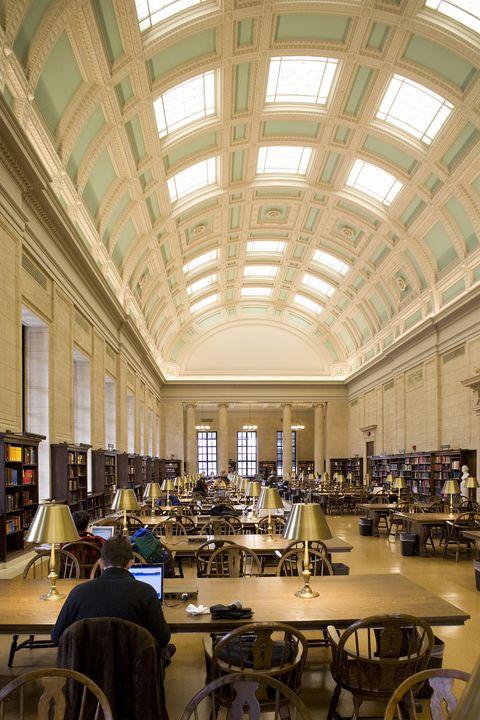 Widener Library reading room, Harvard Univ, Cambridge, MA