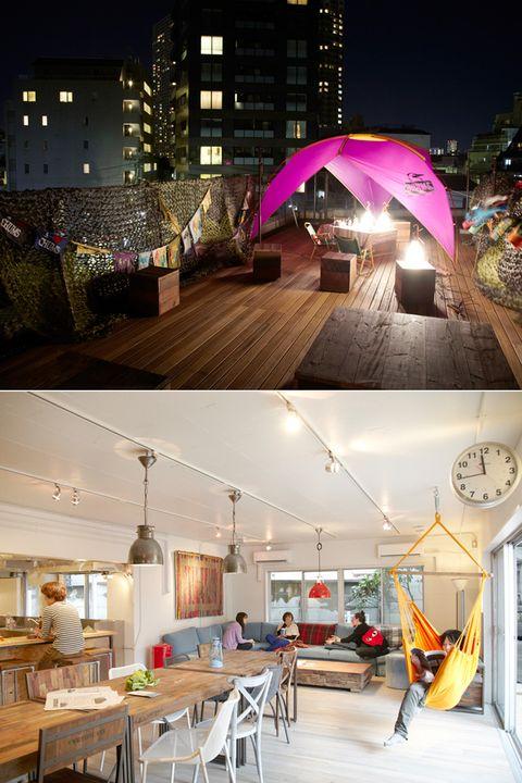 Building, Umbrella, Lighting, Architecture, Home, House, Interior design, Night, Room, Roof,