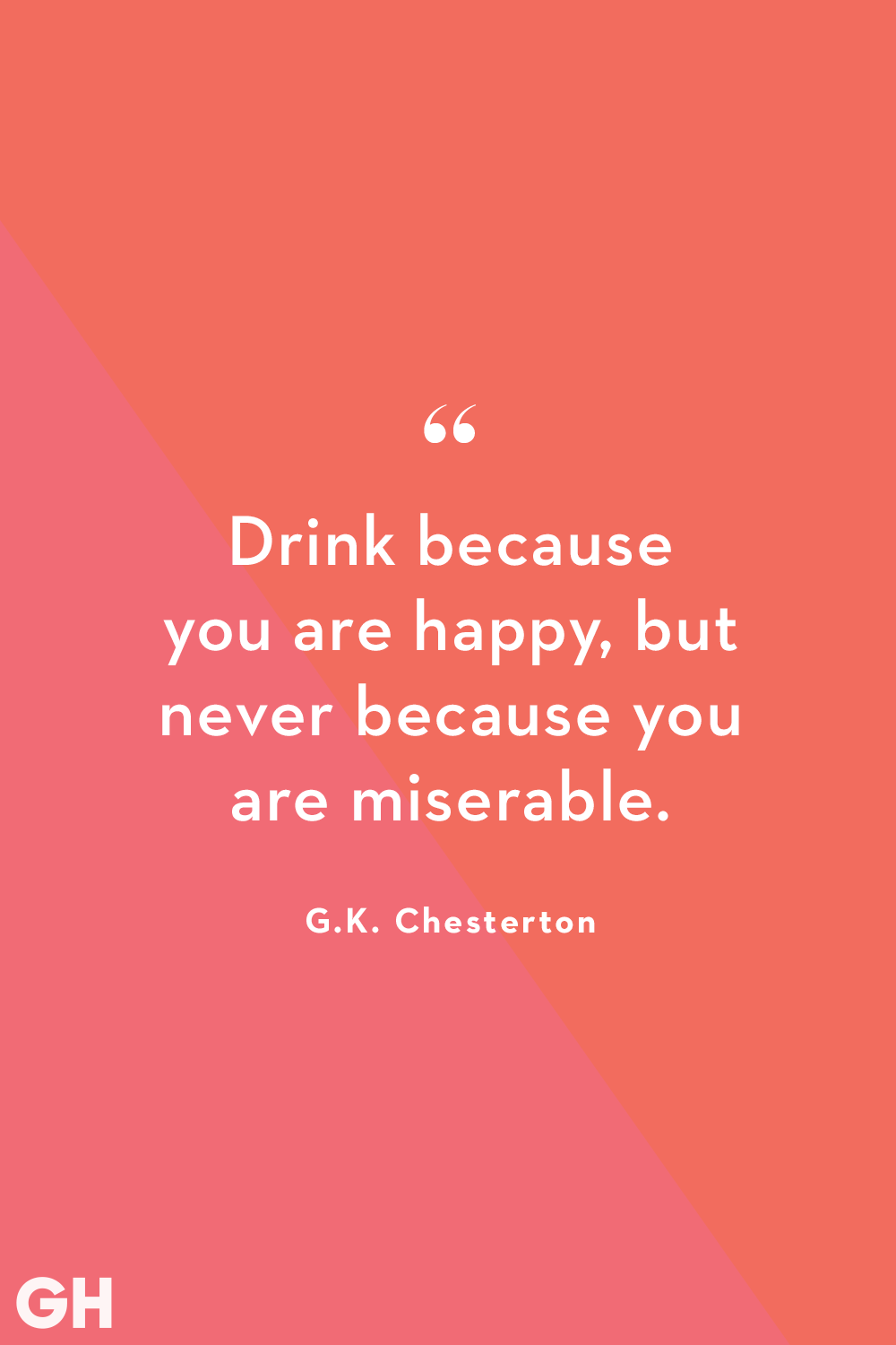 G.K. Chesterton Alcohol Quote