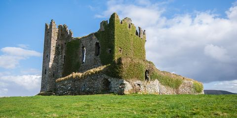 Ballycarbery castle in Kerry, Ireland