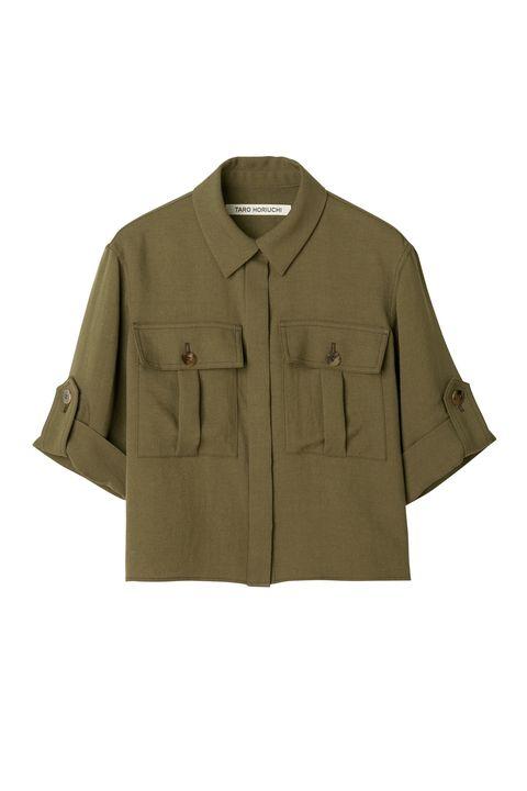 Clothing, Outerwear, Sleeve, Khaki, Jacket, Collar, Coat, Beige, Pocket, Uniform,