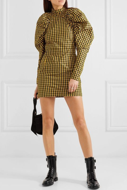 Clothing, Fashion model, Shoulder, Neck, Fashion, Khaki, Sleeve, Footwear, Yellow, Joint,