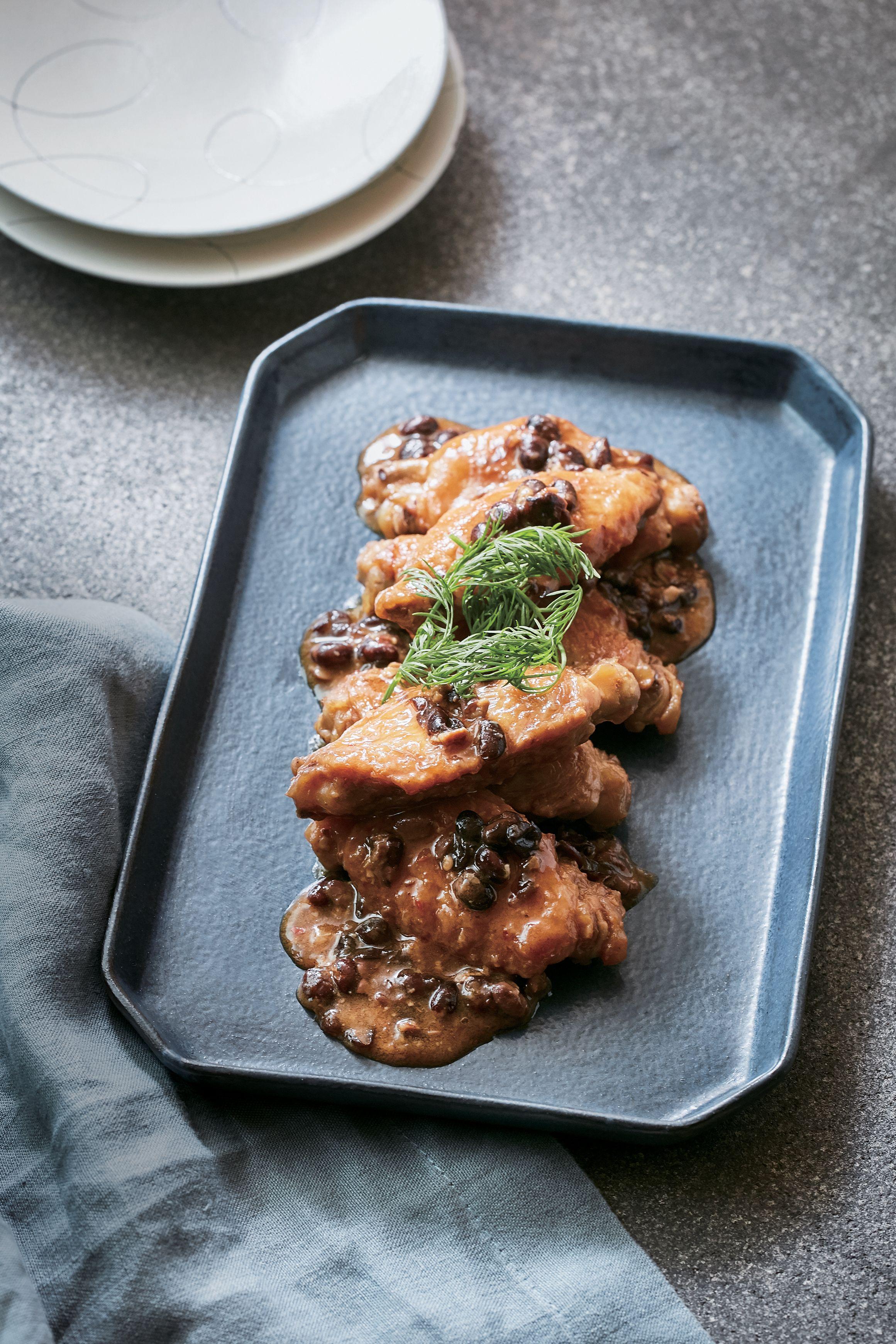黒大豆納豆と鶏手羽の雲南風煮