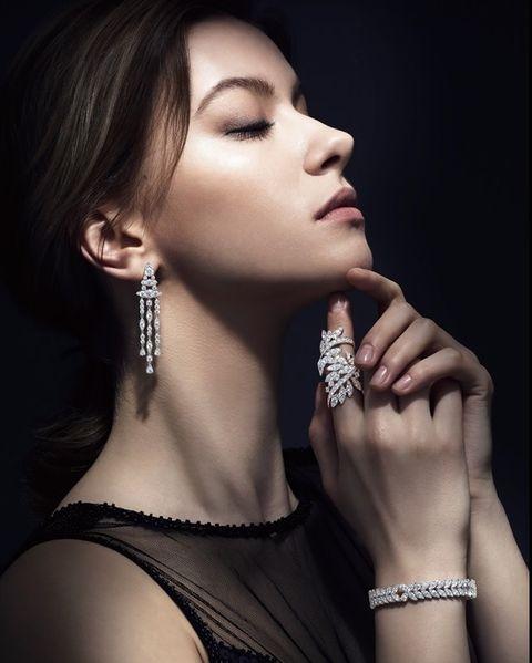 AERIAL REGAL白K金鑽石耳環、AERIAL REGAL白K金鑽石手環、WHITE KITES白K金鑽石戒指