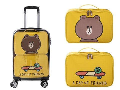 屈臣氏,LINE FRIENDS,屈屈小旅行,集點活動,熊大,兔兔,行李箱,居家小物,出國配件