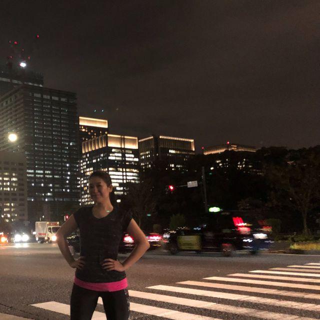 Photograph, Night, Urban area, Sky, Standing, Light, Metropolitan area, Snapshot, Lighting, Pedestrian crossing,
