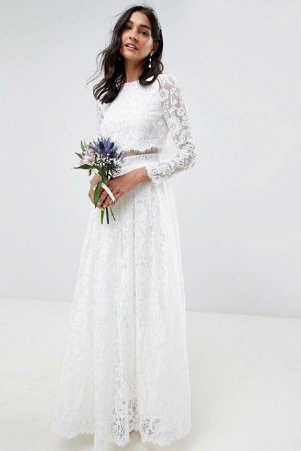 ロングスリーブウエディングドレス