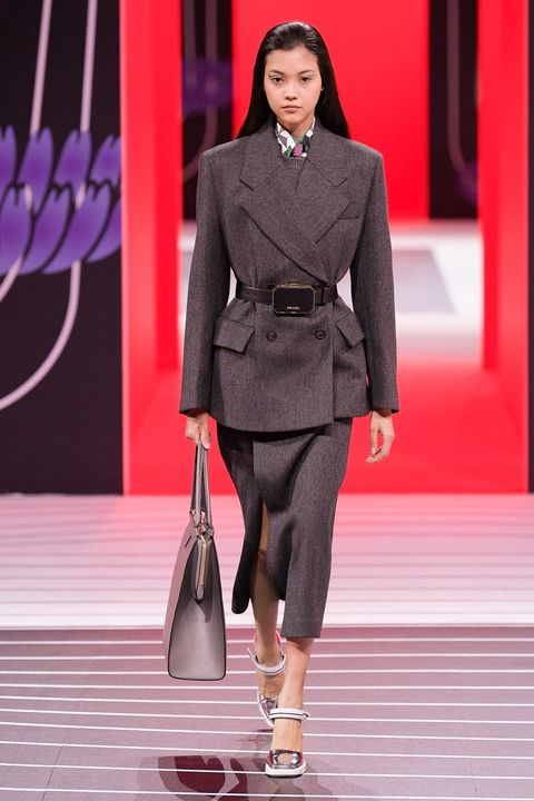 Prada Herfst/Winter 2020 show tijdens Milan Fashion Week.